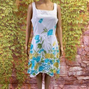 Alyn Paige Floral Cotton Dress
